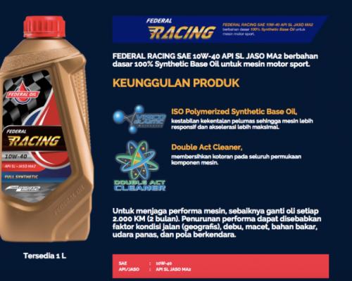 Rekomendasi Oli Motor Sport, Federal Racing Pilihan Yang Tepat
