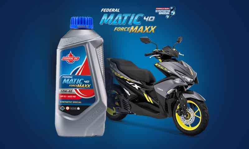 Rekomendasi dan kapasitas oli motor untuk Yamaha Aerox 155 VVA