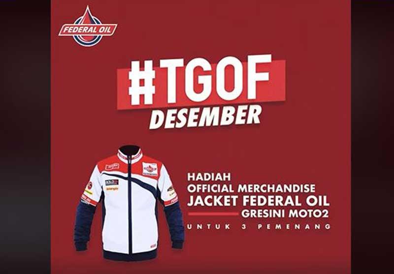 TGOF Spesial Akhir Tahun, Selain Pulsa Ada Hadiah Jaket Federal Oil Gresini Moto2