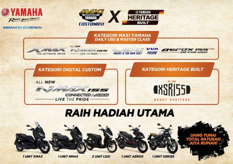 Final CustoMAXI X Yamaha Heritage Built Akan Berlangsung Akhir Pekan Ini Di Bekasi
