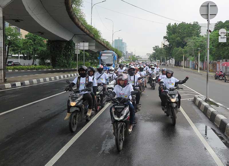 Komunitas Honda BeAT Ramaikan Jalanan Jakarta, Ada Apa ?