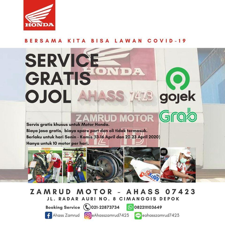 AHASS Zamrud Depok Kasih Program Servis Motor Gratis Untuk Ojol
