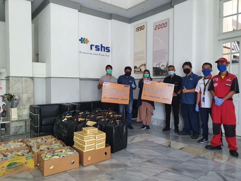 Yamaha DDS II Jawa Barat Siapkan Paket Makanan Untuk Tenaga Medis di Bandung