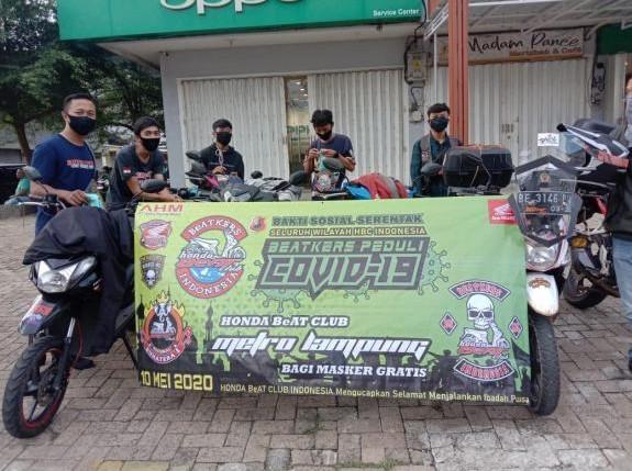 Honda BeAT Bersatu Lawan Corona, Berikan Donasi Aceh Sampai Papua