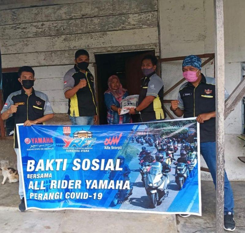 Diler Dan Komunitas Motor Yamaha Di Medan Bersatu Lawan Corona