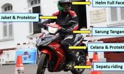 Supaya Aman Saat Naik Motor, Jangan Sepelekan Perlengkapan Berikut ini