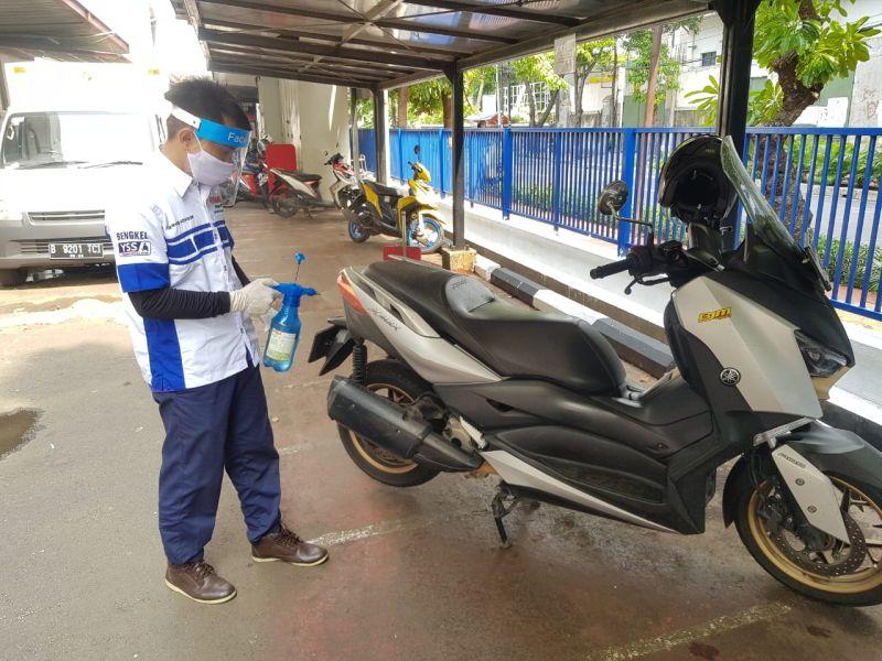 Terapkan Protokol Kesehatan, Bengkel Resmi Yamaha Siap Layani Servis Motor Konsumen