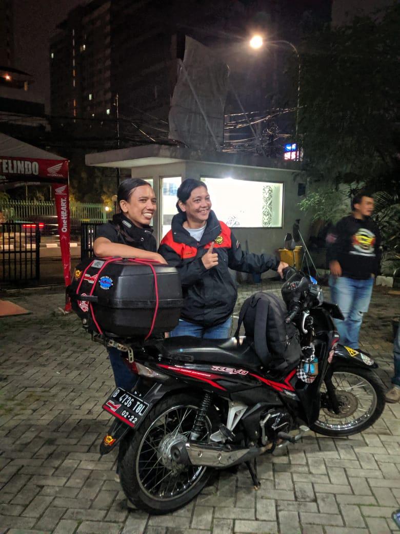 Pakai Honda Revo, Siti Farah Solo Riding Dari jakara ke Titik Nol Sabang
