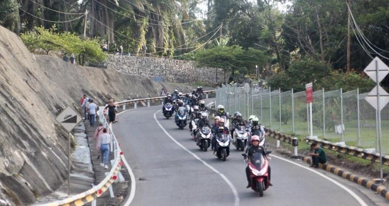 Serunya Sunmori Bikers Honda PCX Tangerang ke Cirata