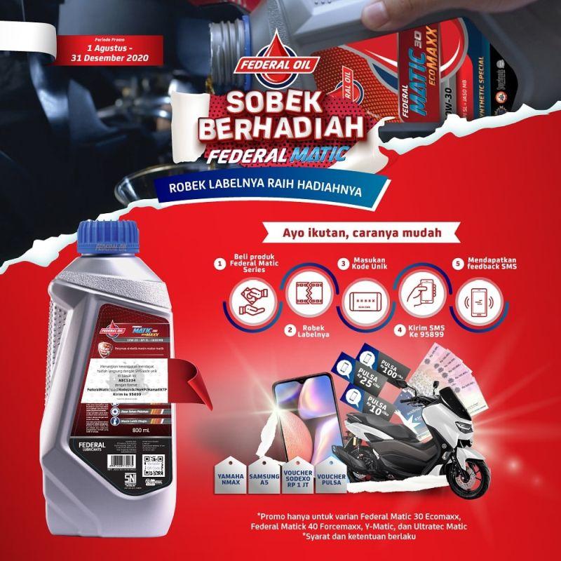 Beli Federal Oil, Sobek Label Kemasannya Bisa Dapat Motor Yamaha Nmax