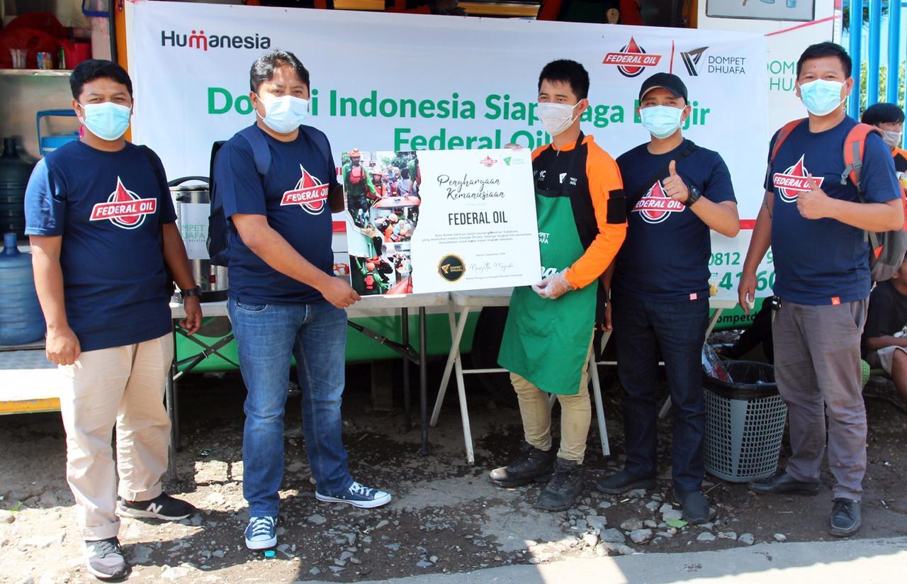 Federal Oil Berikan Bantuan Untuk Korban Banjir Bandang Sukabumi