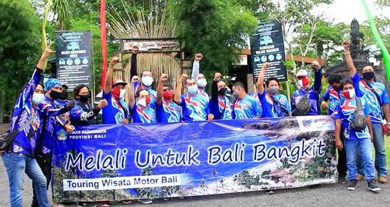 Bangkitkan Wisata Bali, Komunitas Motor Ini Adakan Touring Bersama