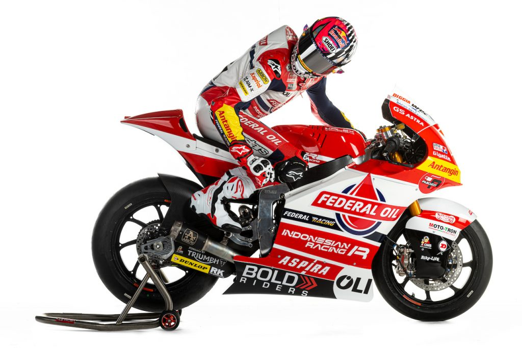 Wow, Livery Motor Federal Oil Gresini Moto2 2021 Indonesia Banget