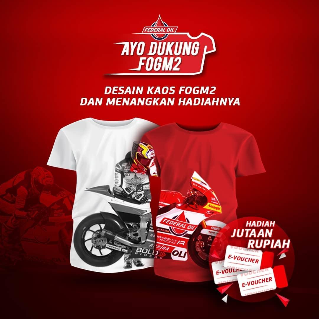 Mau Hadiah Voucher Jutaan Rupiah ? Dukung Tim FOGM2 Dengan Ikut Kompetisi Desain Kaos Federal Oil Moto2 2021