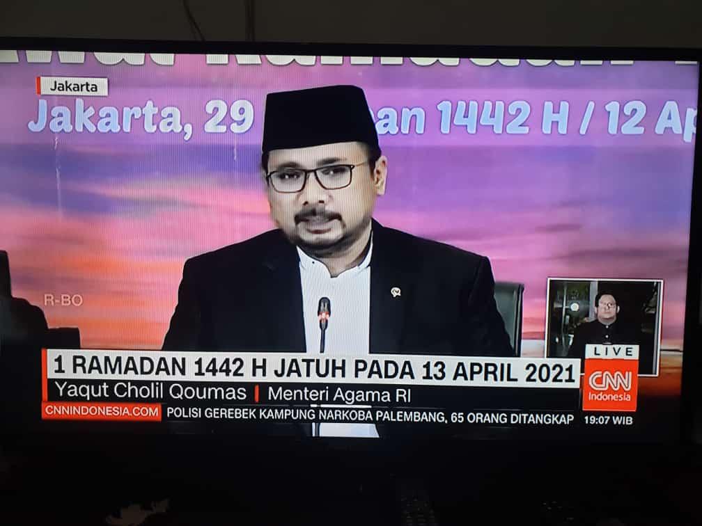 Hasil Sidang Isbat 2021, Selasa 13 April Puasa 1 Ramadhan 1442 H